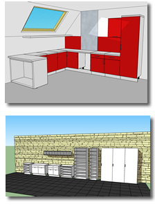 Oob cabinets plugin for SketchUp