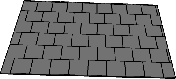 SketchUp paving offset floor