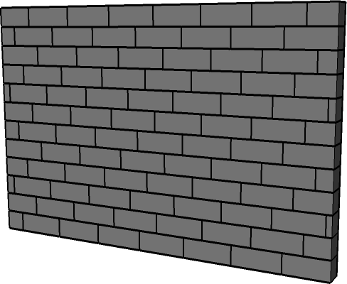 SketchUp breeze blocks wall